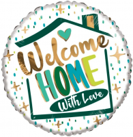 Folie ballon ECO welcome home with love 46cm