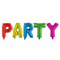 Folieballonnen set ''PARTY'' letters (41 cm)