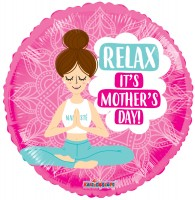 Folieballon moederdag ''Relax, It's Mothers Day'' rond (45 cm)